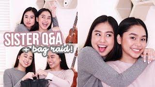 Sister Q&A: Bag Raid + First Crush?! | ThatsBella