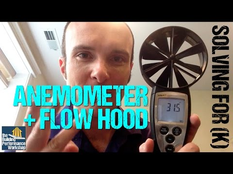 Anemometer + Flow Hood: Discovering a Grille's K-Factor for HVAC Airflow Testing