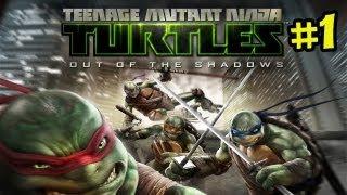 Teenage Mutant Ninja Turtles - Out of the Shadows Gameplay Walkthrough Part 1 -  TMNT XBLA HD