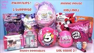 LOL WAVE 2 Pikmi FLIPS 5 Surprise Girls Disney Doorables Puppy Dog PALS Toys Unboxing