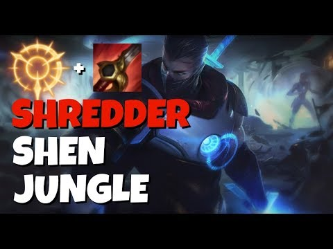 SHREDDER Shen Jungle with Press the Attack! League of Legends
