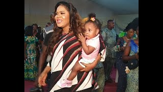 See Cute Baby Toyin Abraham Was Spotted Carrying As lizzy Anjorin Sprays Money On Mama Ereko