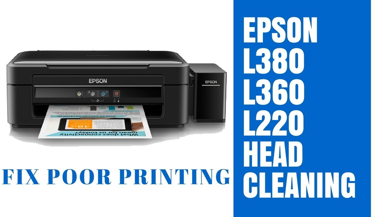 Epson L380 Head Cleaning Fix Poor Printing