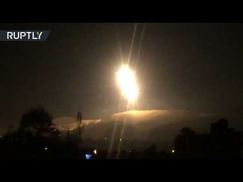 Syrian air defenses reportedly intercept Israeli missiles in Damascus