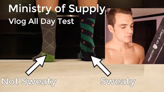Ministry of Supply Field Test   Performance vs Ralph Lauren Dress Socks   Vlog Clothing Review