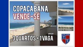 AP0267 - VENDE-SE - COPACABANA, Av. Atlântica, andar alto, vista panorâmica, 200 m2 + 1 vaga !