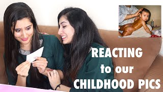 Reacting to Our Childhood Pictures | That Glam Girl