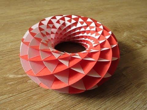 sliceform - papercraft - torus - tutorial - dutchpapergirl - YouTube