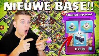 NIEUWE LEVEL 11 BASE + MEGA AANKOOP!! CLASH OF CLANS NEDERLANDS
