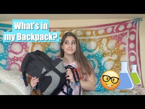 WHAT'S IN MY BACKPACK? | Biochemistry Major!