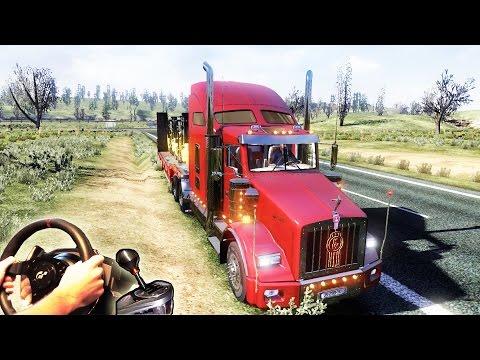 American Truck Simulator (ETS2 mod) - Kenworth T800, (+how to EcoDrive). Full HD 2015