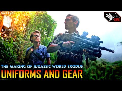 JURASSIC WORLD EXODUS BTS: UNIFORMS AND GEAR TRAVIS HALEY GARAND THUMB