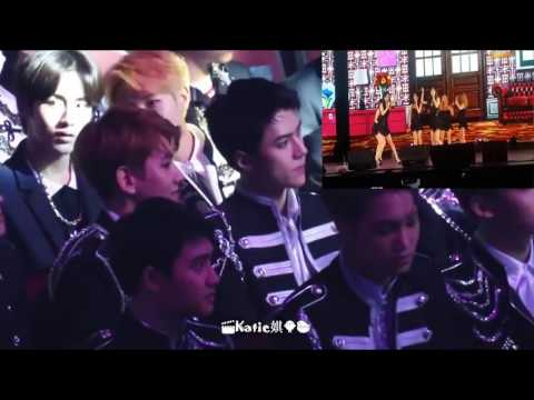 EXO Reaction to SNSD Stage (Cute Fanboys!) in HK