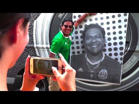 USA: une installation photo de JR pour mobiliser les électeurs