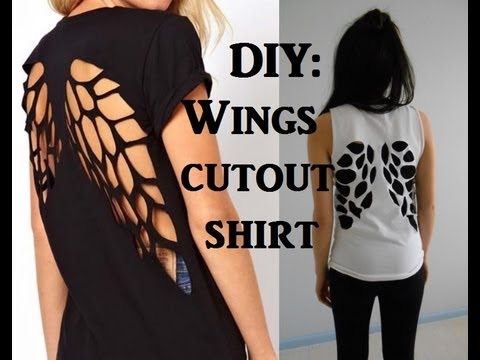 cut up t shirt tutorials andreas notebook - T Shirt Design Ideas Cutting