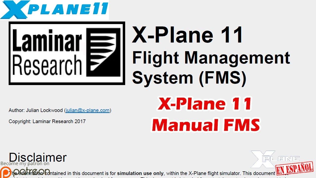 X-Plane 11 - Manual FMS y Otros Manuales