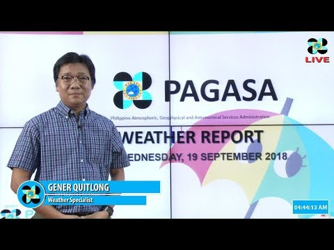 Public Weather Forecast Issued at 4:00 AM September 19, 2018