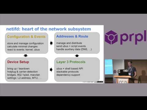 Introducing the OpenWrt network subsystem by Steven Barth - OpenWrt Summit