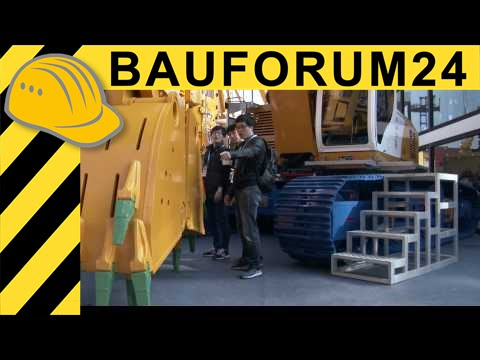 Bauer BG ValueLine Drilling Rigs & GB Grab Carrier - Bauma China 2014 - 4K Video