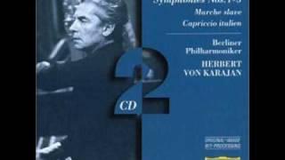 Herbert von karajan Dirigieren Berlin philharmonika . Tchaikovsky marche slave.