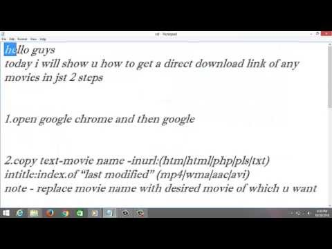 How to get Direct Download Link of any movie from YouTube · Duration:  2 minutes 9 seconds