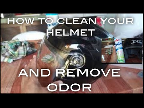 How to clean your helmet( paano maglinis NG helmet)