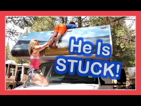 BOY TRAPPED 😲 ON TOP OF MOTORHOME | A WESTERN  🚐  RV ADVENTURE | Flippin' Katie