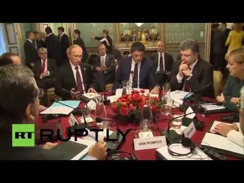 Italy: Putin, Poroshenko and Merkel discuss progress after breakfast at ASEM