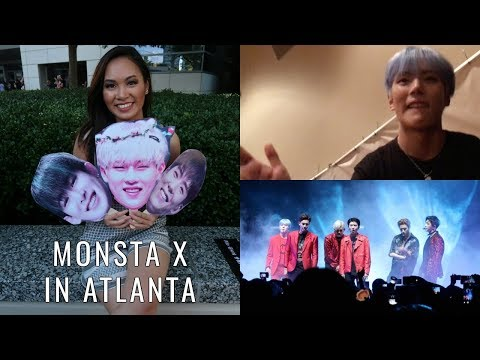 MONSTA X IN ATLANTA! w/ LOTS of concert footage & Hi Touch 💥 | Vlog