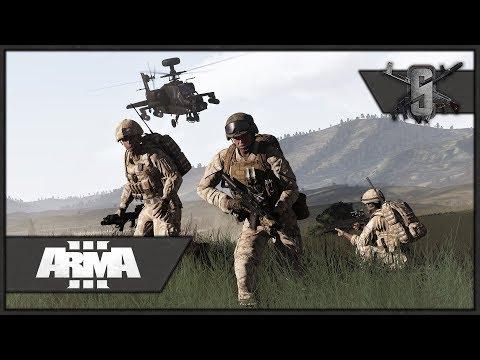 British/American Joint Op, Apache Support! - ArmA 3 Zeus Gameplay 1440p60