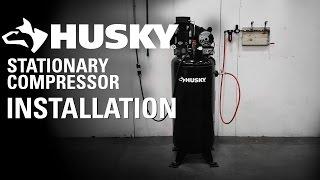 husky stationary compressor installation