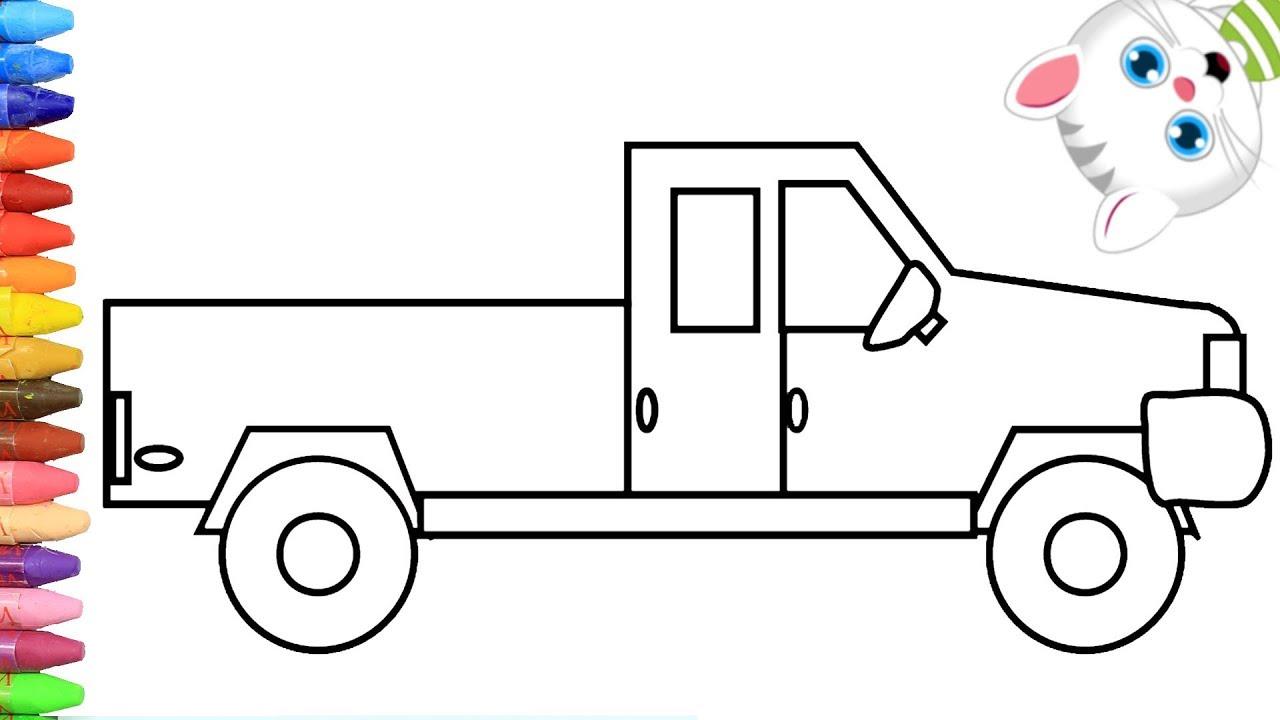الرسم والتلوين للأطفال كيفية رسم شاحنة نقل مع ميمي الرسم
