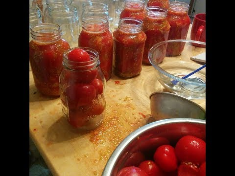 Raw Canning Whole Tomatoes WITHOUT Extra Water