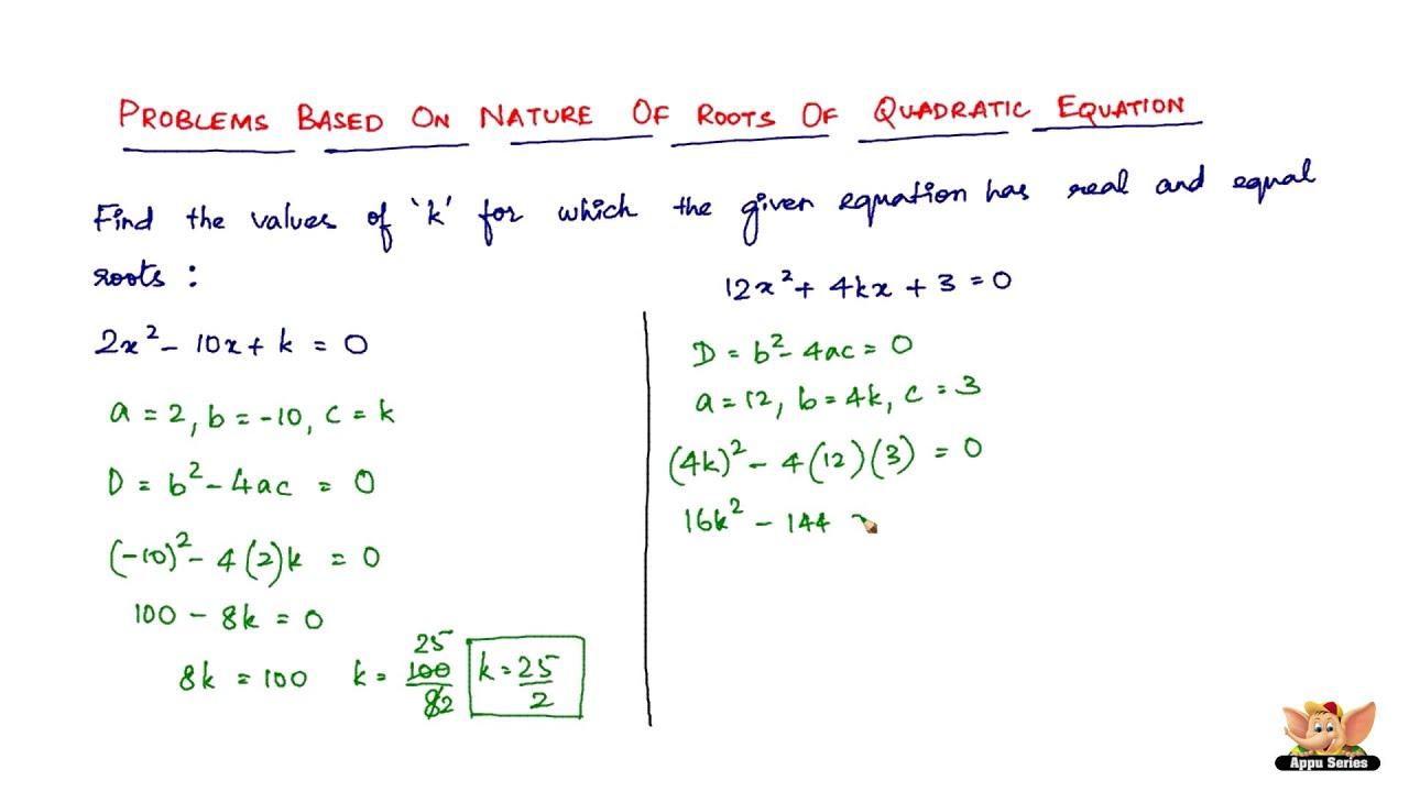 how to read a quadratic equation