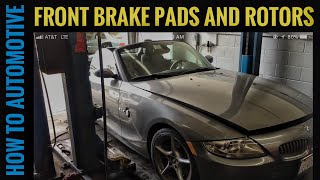 How to Replace Front Brake Pads and  Rotors on a 2008 BMW Z4
