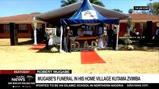 Mugabe's burial currently under way in Zvimba, Kutama