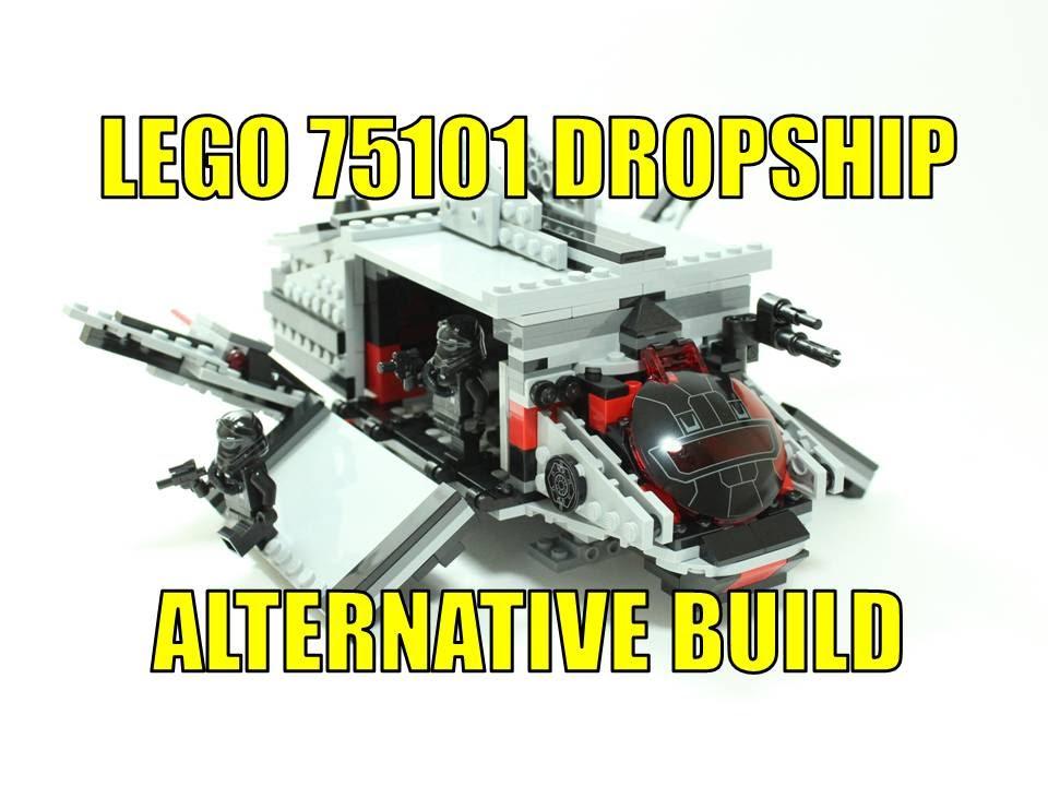 LEGO STAR WARS TIE FIGHTER 75101 ALTERNATIVE BUILD FIRST ORDER ...