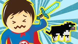 Minecraft Supermans killed his cat Суперманс убил своего кота в Майнкрафте