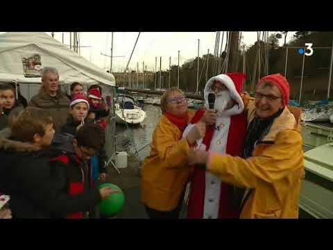Retour du Père Noël au port du Légué