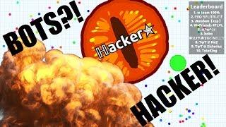 I am a HACKER ! Agar.io Trolling // Incredible Tricksplits with Bots!