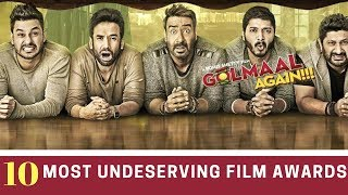 Top 10 Awards - Top 10 - Most Undeserving Film Awards In  India