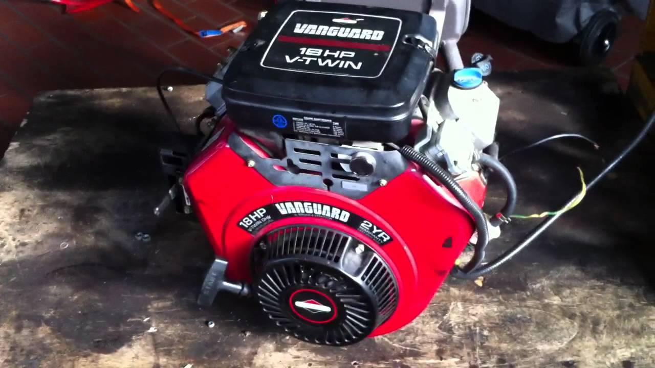 Briggs Stratton Vanguard 18hp Testlauf 1 Youtube