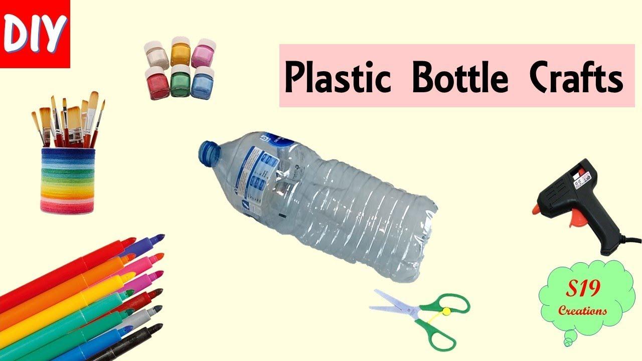 Plastic bottle craft ideas | home decor crafts from plastic bottle ...