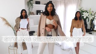 SPRING OUTFIT IDEAS | STYLING NEUTRALS LOOKBOOK 2020