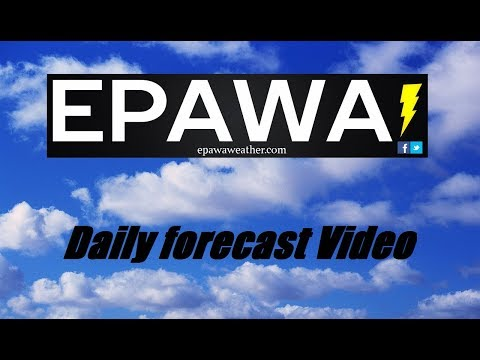 Daily forecast video for Friday March 16th, 2018
