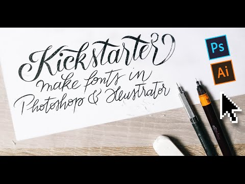 Make Fonts In Minutes With Photoshop Illustrator