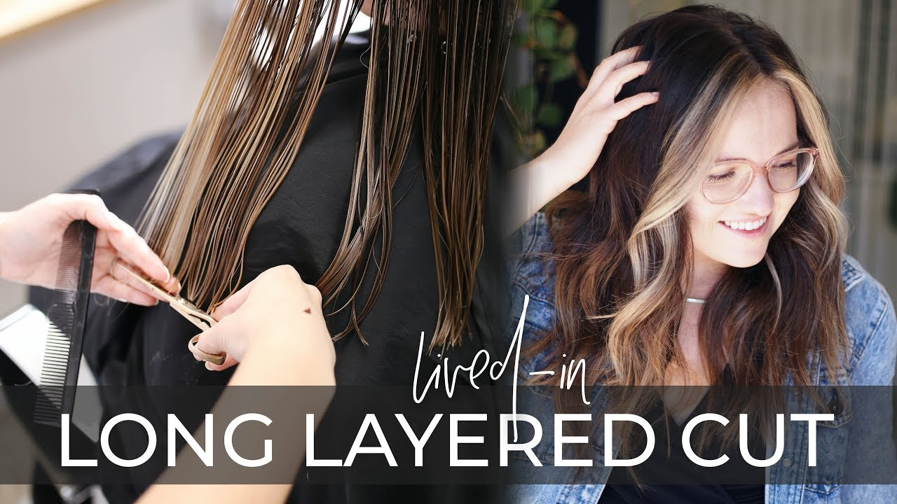 Long Layered Haircut Technique How To Cut Lived In Layers On Long Hair Easy Tutorial Youtube