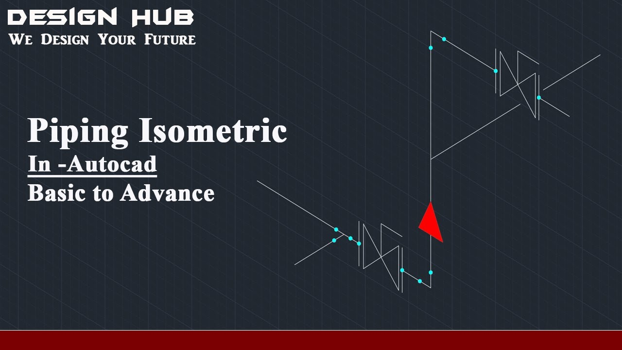 How to draw piping isometrics in Autocad (Autocad tutorial)