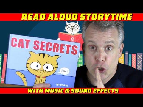 CAT SECRETS   Children's Books Read Aloud For Preschool, Kindergarten