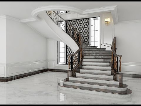 Sketchup Stairs Interior Build Vray Render Youtube   Round Staircase Designs Interior   Classic   Wooden   Elegant   Showroom   Round Shape Round